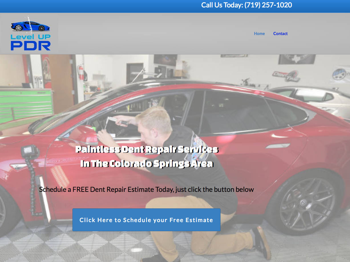 Paintless Dent Repair website design